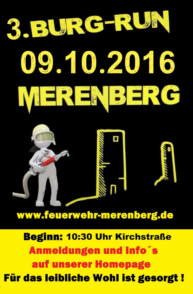 Plakat Burg Run 2016